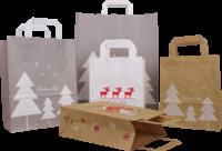 Papiertragetaschen mit Weihnachtsmotiv