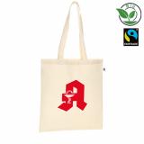 Bio-Baumwolltasche, Fairtrade-zertifiziert, mit Werbedruck
